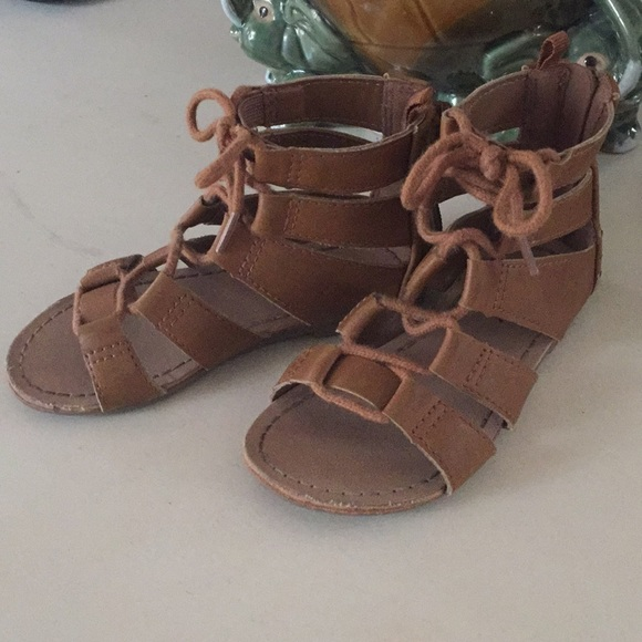 b252dfb71954 Girls Lace-Up Gladiator sandals. M 5aa70457a4c485c2a68d56b5